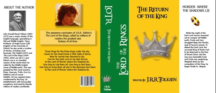 Miniature Printables - Lord of the Rings Book Cover.