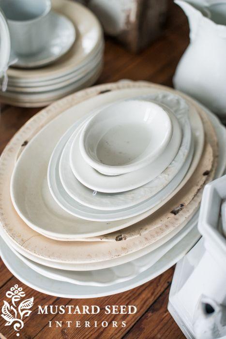 Ironstone Platters   Miss Mustard Seed