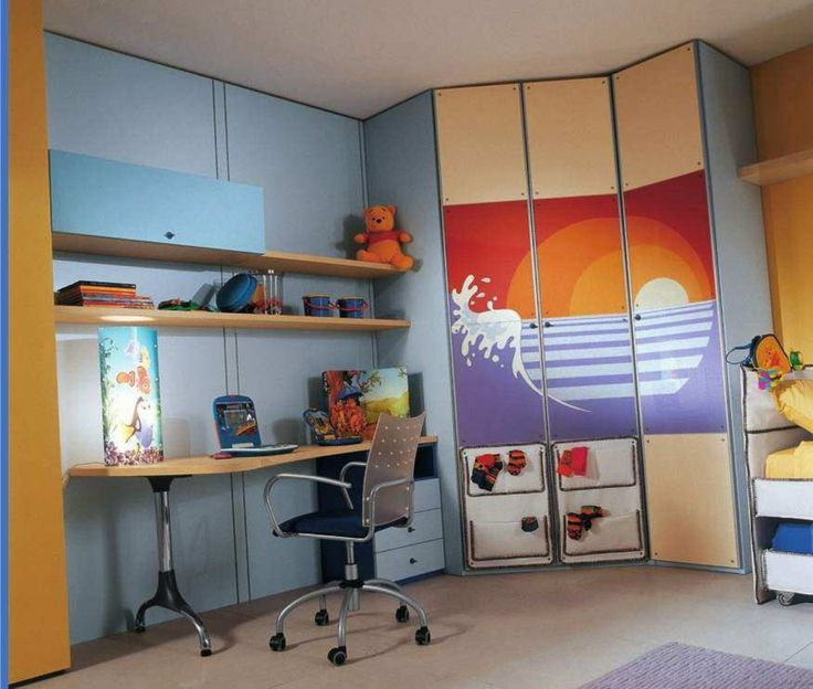 Minimalist Interior Design Bedroom Bedroom Cabinet Design Images Bedroom Sets Images Bedroom Themes: Kids Bedroom Cute Pooh Doll In Minimalist Yellow Book Rack