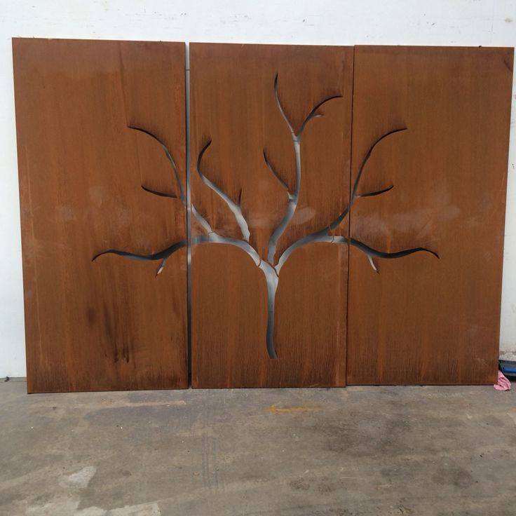 One tree in 3 panel set