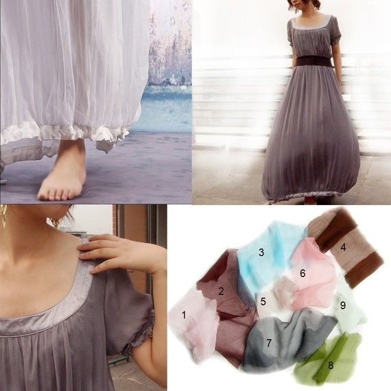 Aegon 2 silk chiffon long dress Q1010 by idea2lifestyle on Etsy, $108.00