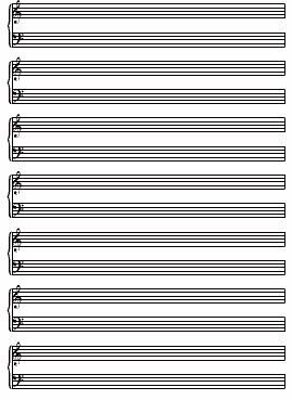 Blank Piano Sheet New Calendar Template Site