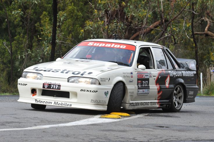 Hunter Holden VL Walkinshaw in action at Targa Tasmania