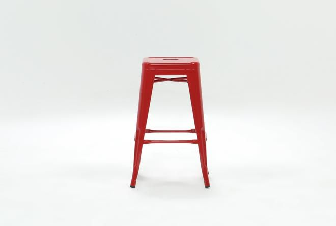 Radical Red 26 Inch Counter Stool With Images Counter Stools