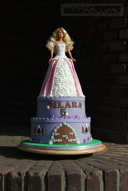 Fondant Tutorials #1: Barbie Doll Dress Cake Tutorial - CakesDecor