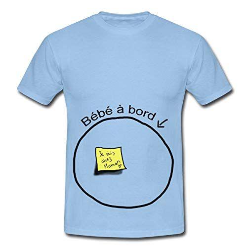 7a8bbdd6374d8 Spreadshirt Grossesse Papa Bébé À Bord T-Shirt Homme L Ciel | T ...