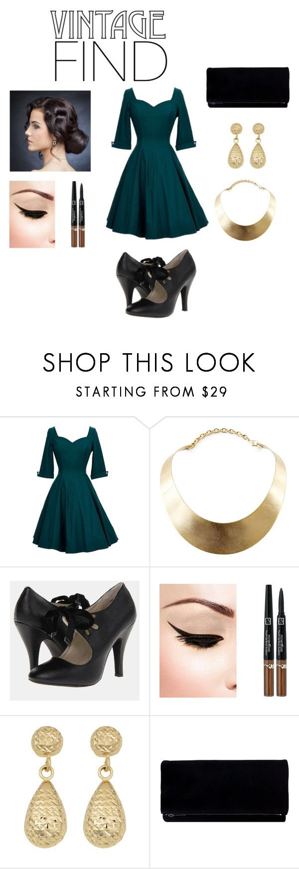 """""""After 5 Attire..."""" by honestlymodest ❤ liked on Polyvore featuring Unique Vintage, GUESS and Fremada"""