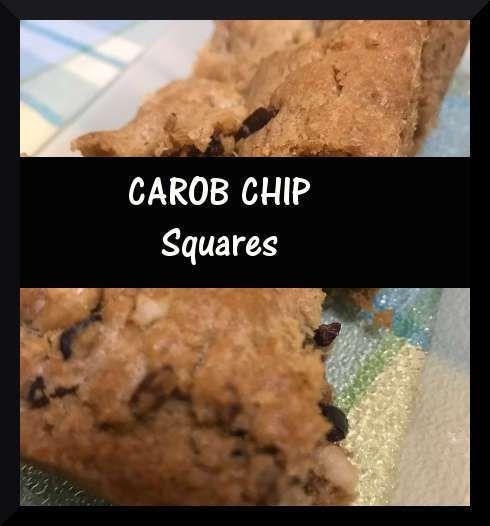 Carob Chip Squares