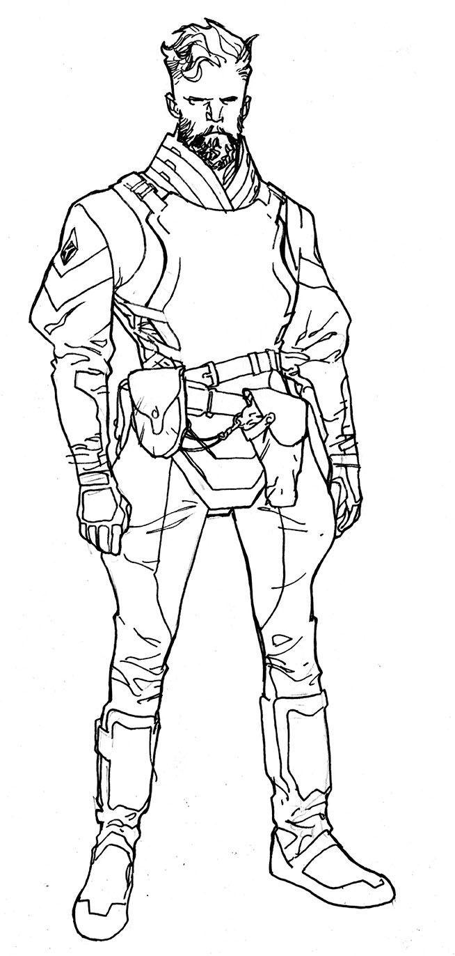 Empress character design by Stuart Immonen, inks by Wade Von Grawbadger *