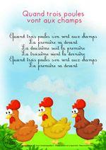 Paroles_Quand trois poules vont aux champs