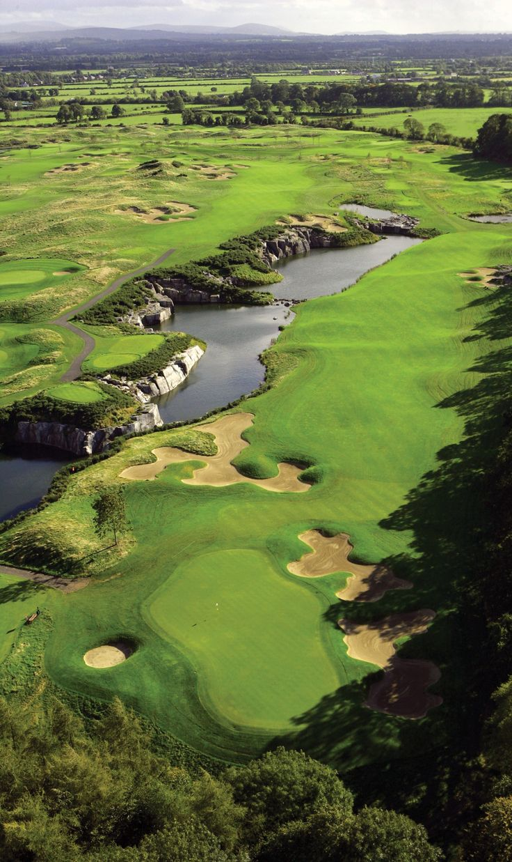 The K Club Golf and Spa Resort in Kildare is home to two championship golf courses [ ForeNShore.com ] #course #golf #relax