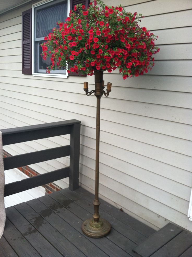 Love My New Planter Vintage Floor Lamp Refurbished