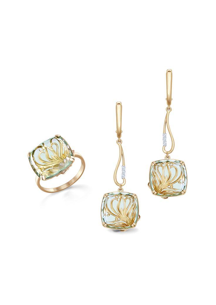 Sokolov Ring and Earrings - Ring CHF 570.00, Earrings - CHF 1'610.00