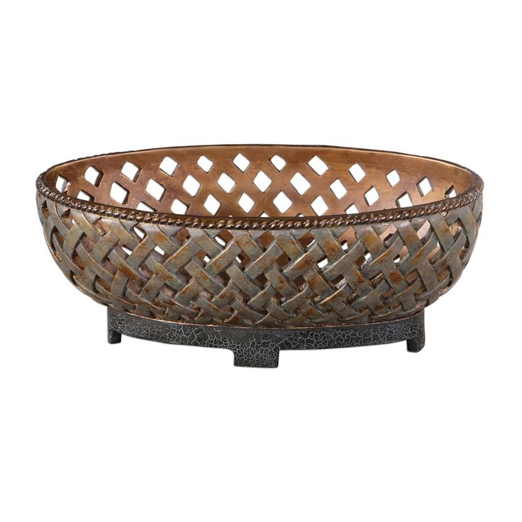Uttermost 19539 Teneh Lattice Weave Design Decorative Bowl On Sale Now. Guaranteed Low Prices. Call Today (877)-237-9098.