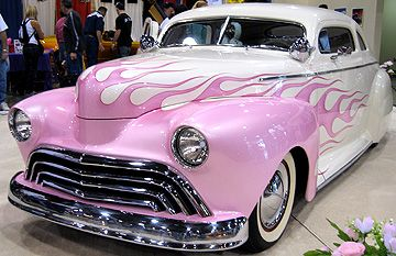 There ya go!  Pink flames! Idk why...but I like this..maybe for the fiancè? =P #Cars #Speed #HotRod