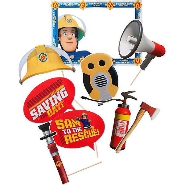 Fotorequisitenset Feuerwehrmann Sam 9 Tlg Fotorequisiten Feuerwehrmann Und Feuerwehrmann Sam