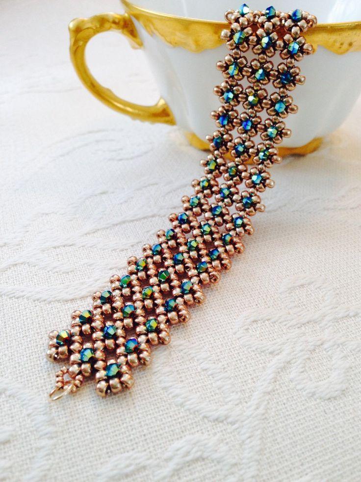 17 best ideas about beaded cuff bracelet on