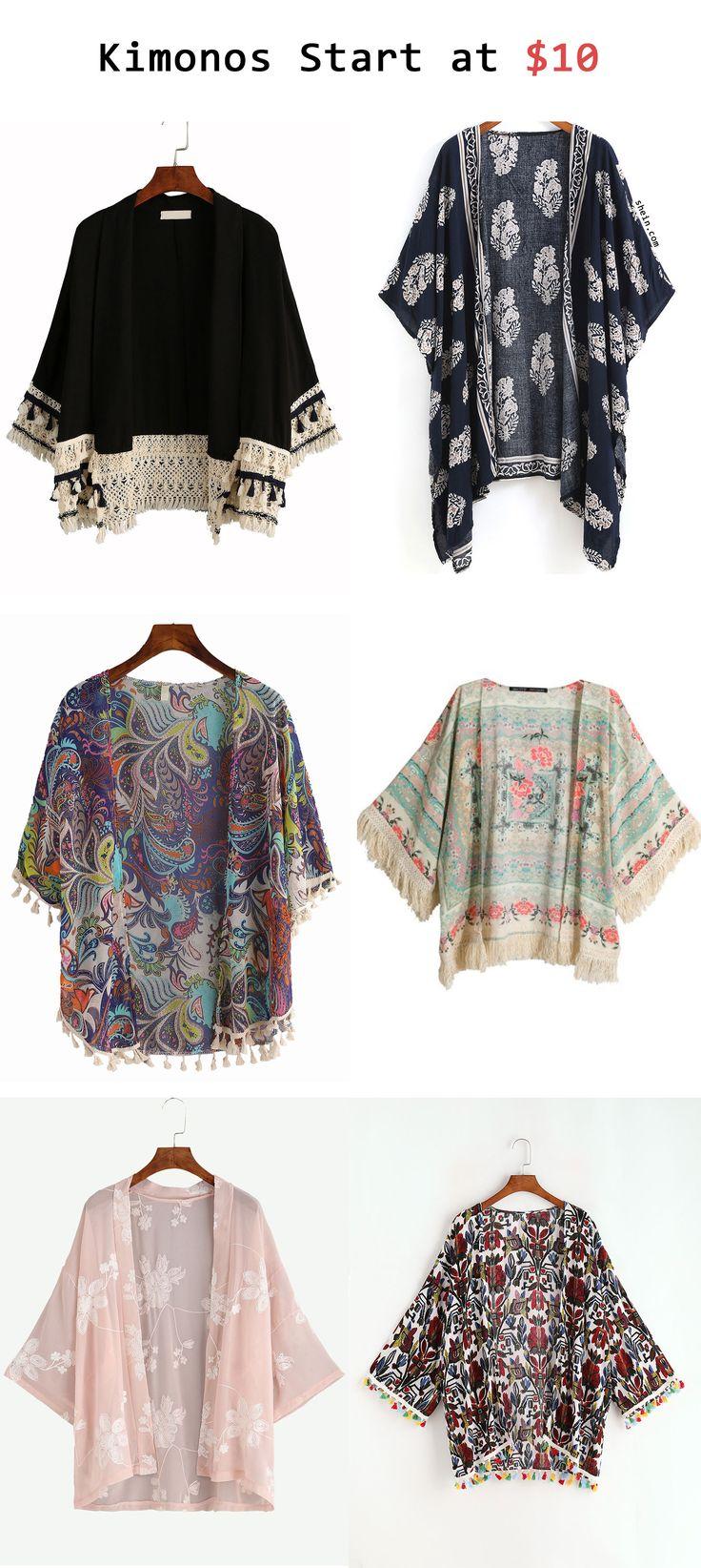 Kimonos start at $10