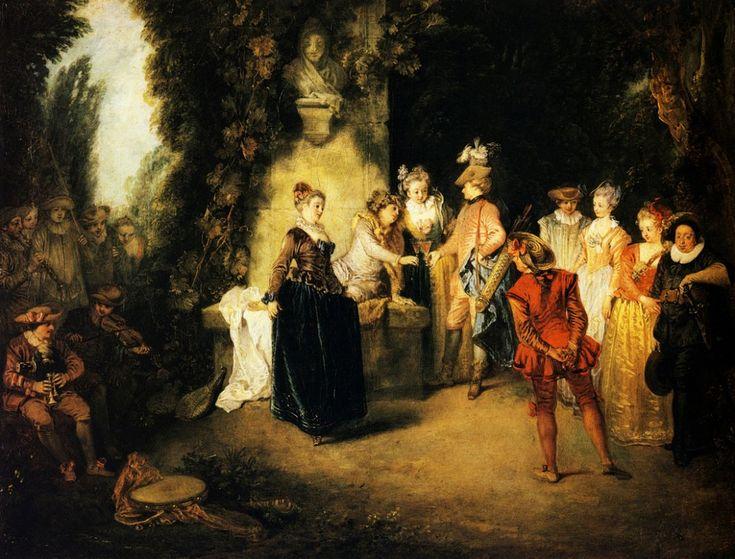Галантный век Антуана Ватто (Jean Antoine Watteau, 1684-1721, French painter)