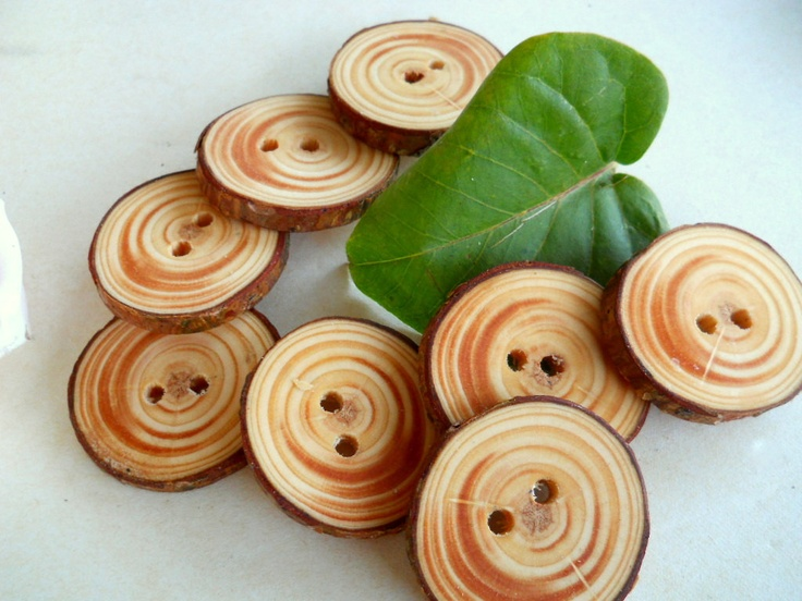 Red Pine Tree Branch Buttons
