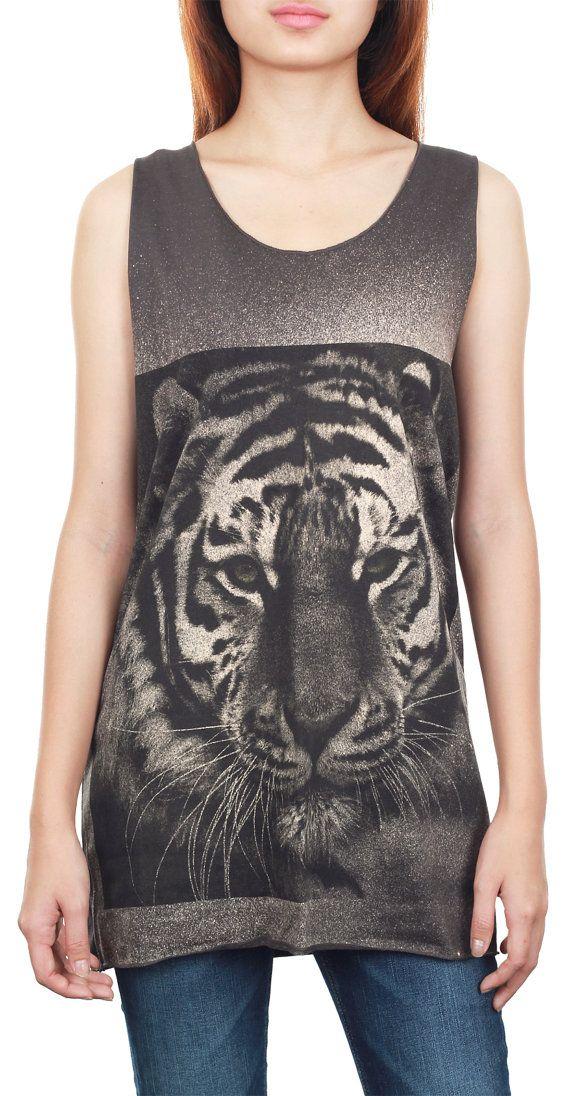 Bengal Tiger Tank Top Bengal Tiger Shirt Animal Art Design Tank Women Shirt Tunic Top Vest Tank Top Size M, L, XL - izjbt41