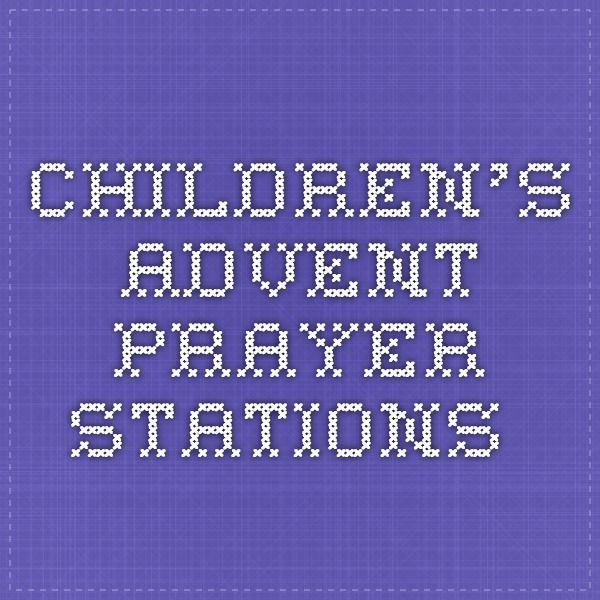 children's advent prayer stations.