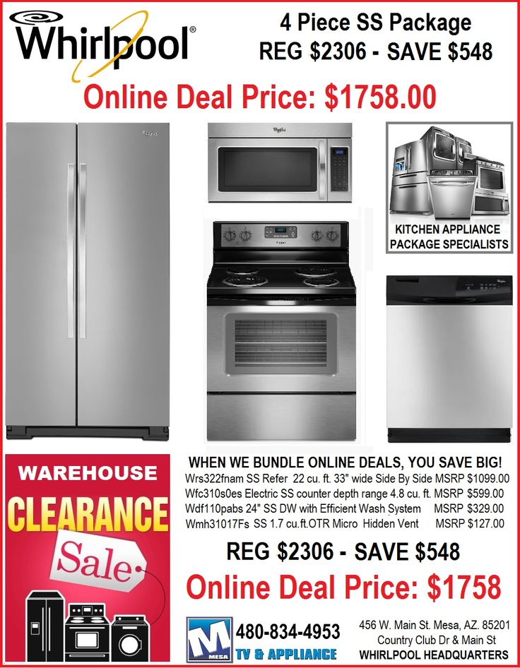 Discount whirlpool kitchen appliance packages mesa az