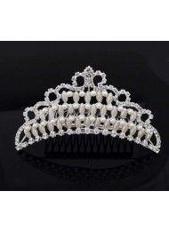 De nieuwe Pearl bruids sieraden diamant kroon prestaties kroon hoofdtooi 13