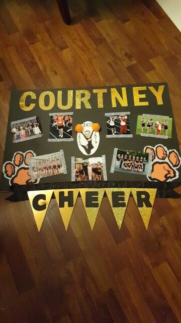 Our attempt at a Senior Night Cheer poster - board.  ☺