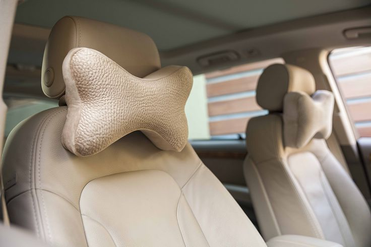 Car Seat pillows are available in various colors and outer cover designs...
