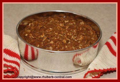 MOIST and DELICIOUS Rhubarb Coffee Streusel Cake RECIPE HERE!