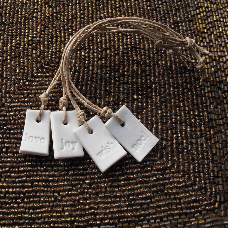 festive porcelain tags by squeak gift and party | notonthehighstreet.com