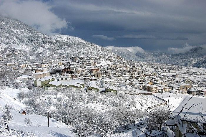 #Karpenisi-Greece in winter