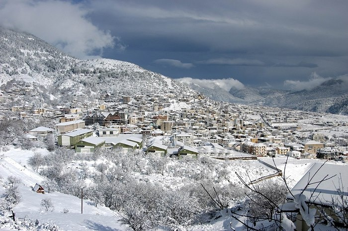 #Karpenisi in white, the perfect destination for a winter brake, #exploreGreece_hellenicdutyfree