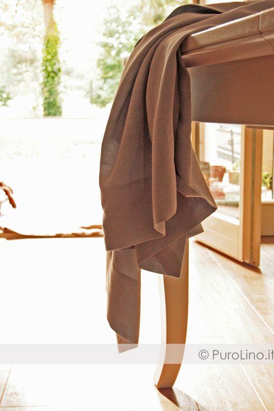 Tablecloth 100% linen stone washed  www.purolino.it