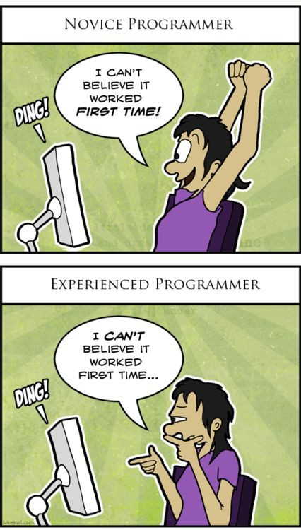 Difference between novice and experienced programmer http://onlinefungags.com/2012/10/difference-between-novice-and-experienced-programmer/?ref=ait&utm_source=pinterest&utm_medium=t-post-fun&utm_campaign=non