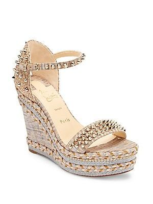 6b705375ad Christian Louboutin Mad Monica 120 Wedge Sandals 795 2019 | Designer ...