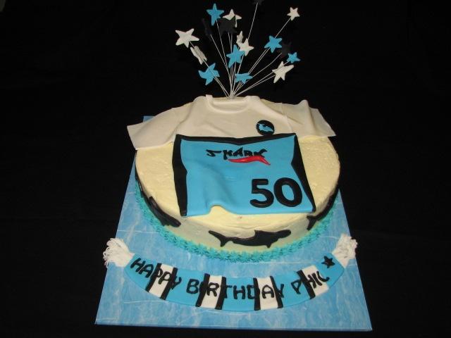 Cronulla Sharks football jersey cake