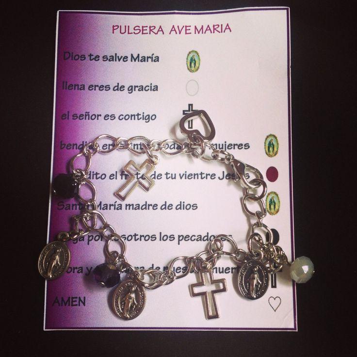 Pulsera Ave María - instagram @santaluaccesorios