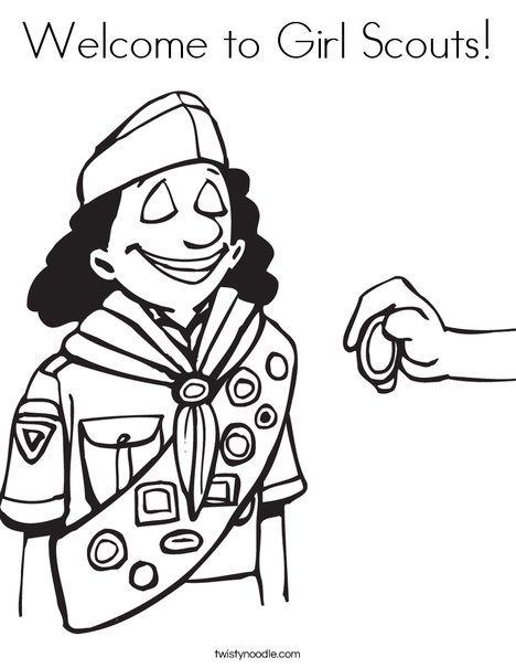 50 Best Images About Girl Scout Coloring Pages On Scout Brownie Coloring Page Free