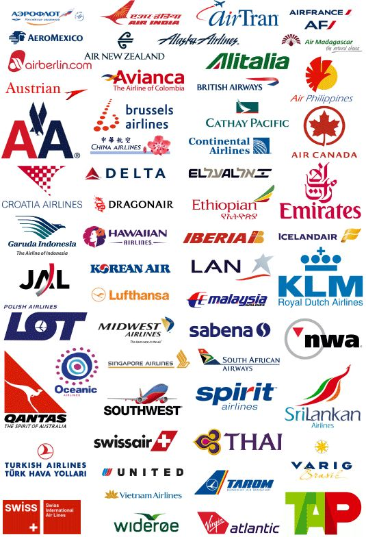 Airline logos. Not all of them of course, but still a beautiful sample. I love seeing how the airline logos have changed over the decades.