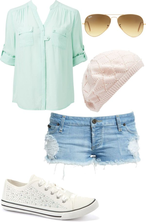 """""""Cute everyday outfit"""" casual and has that perfect spring color"""