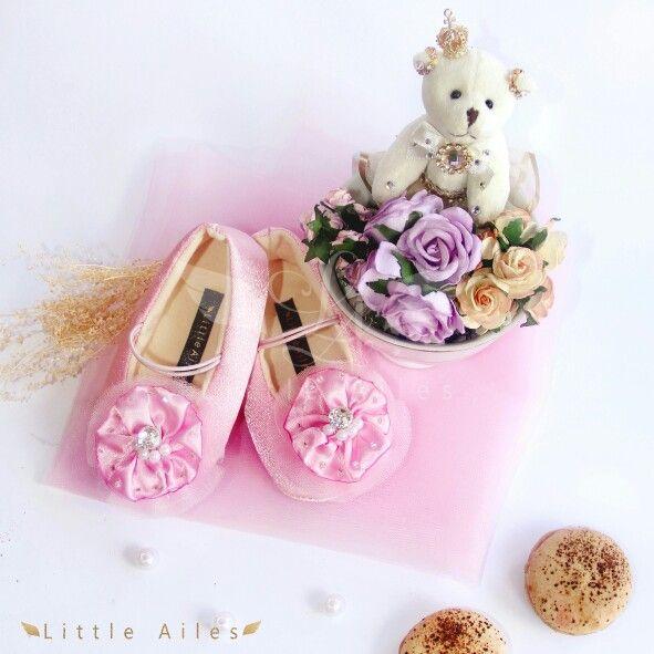 La rothschild daisy pink baby shoes prewalker shoes