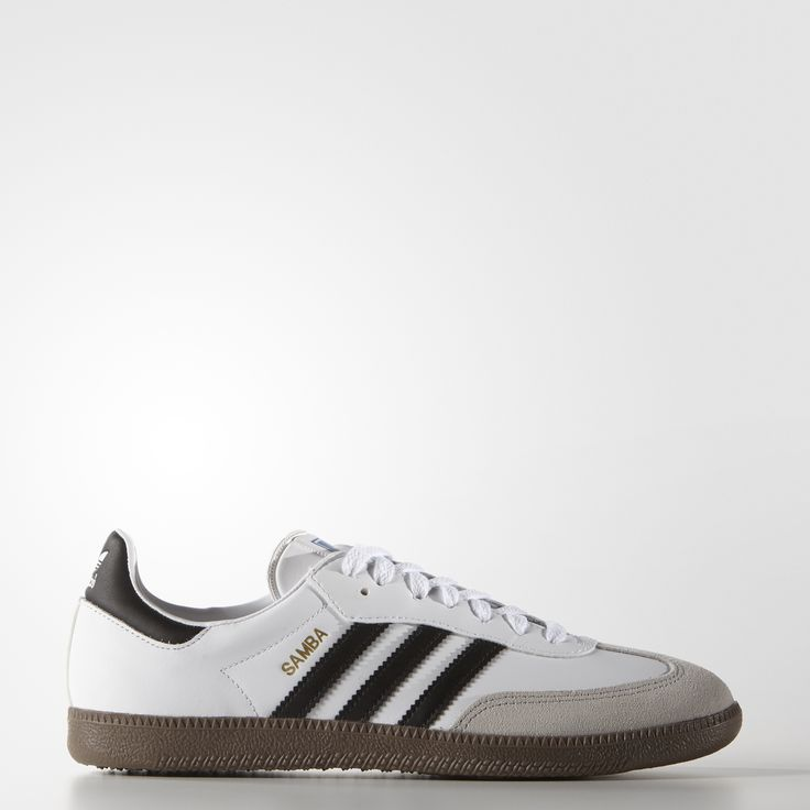 A shoe that's synonymous with adidas, the Samba was created in 1950 for soccer training on frozen outdoor pitches. This men's sneaker version of the legendary shoe has a look that's true to the Samba of yesteryear, with an all-leather upper, serrated 3-Stripes and heritage colors.