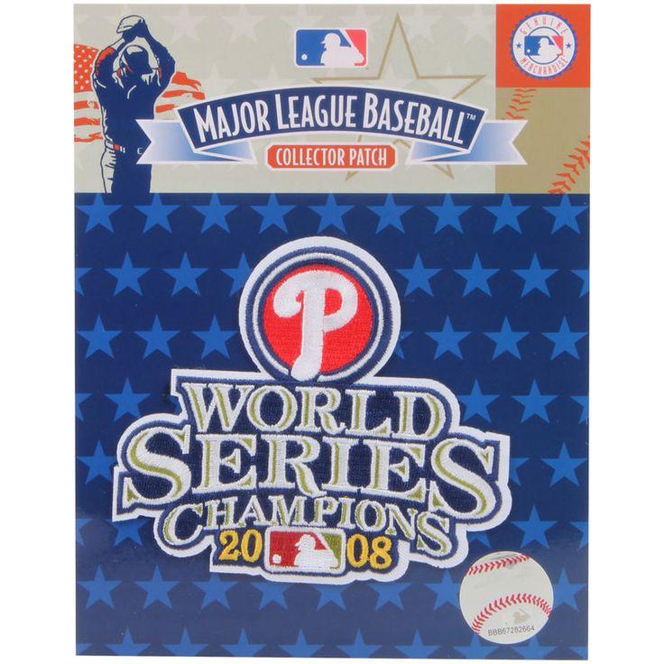"Philadelphia Phillies 4.5"" x 3.5"" 2008 World Series Patch"