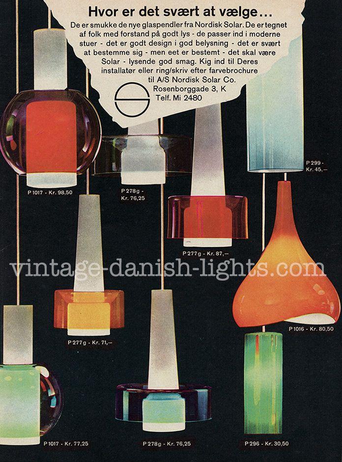 Did Iittala make glass for Nordisk Solar?   Vintage danish lights blog