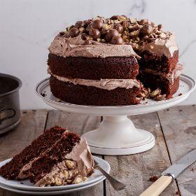 Chocolate cake with coffee buttercream