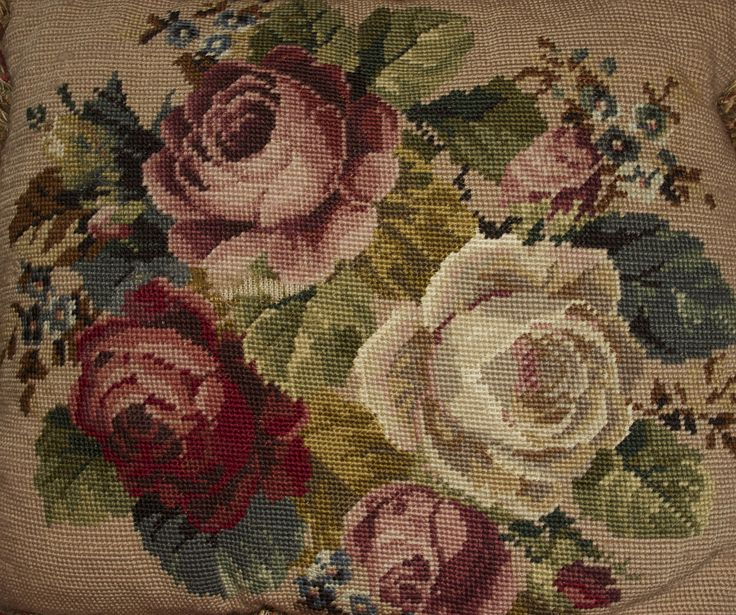 Needle point floral