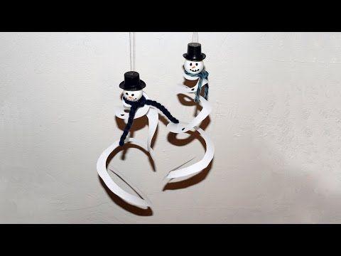 Spiralen Schneemann aus Papier basteln