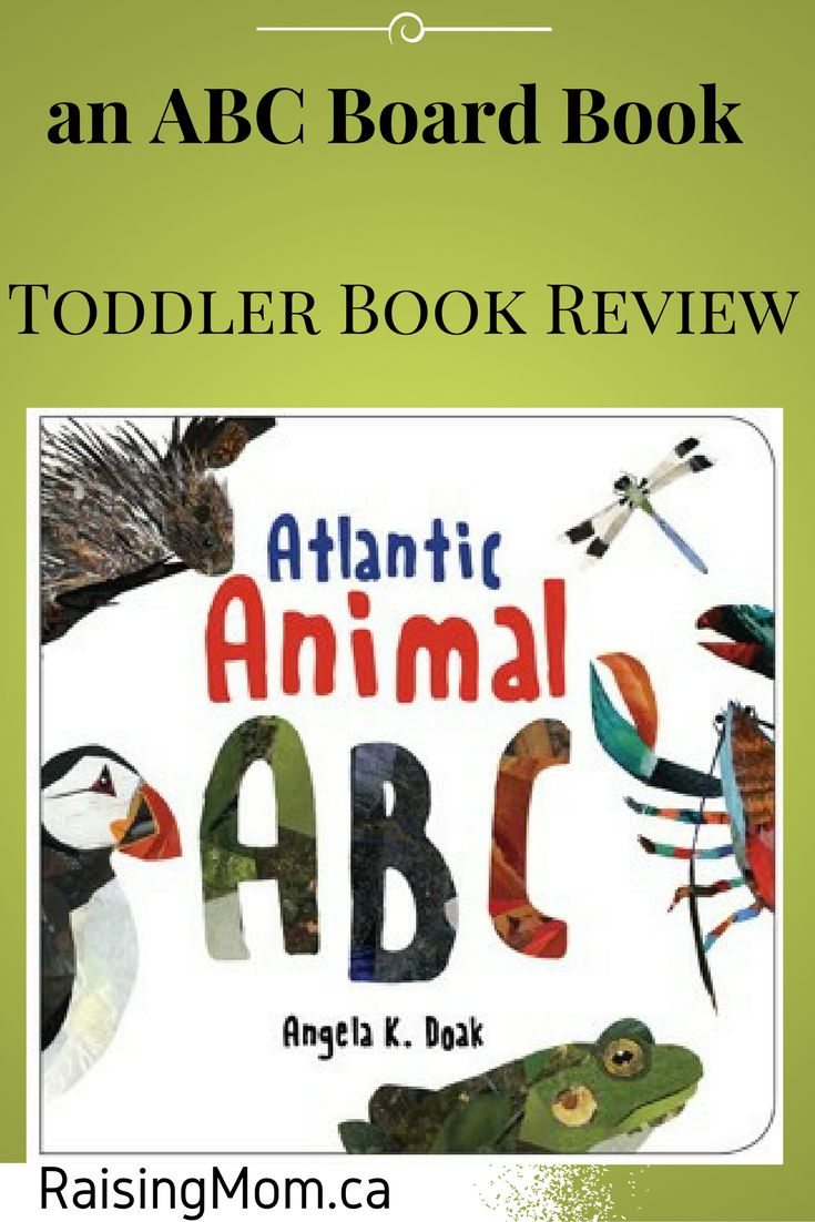 Atlantic Animal ABC by Angela Doak | Book Review | Board Book | This board book has gorgeous paper collage pictures. Kids will love the vibrant images of animals from Atlantic Canada. This title would have a place in the nursery of any child, regardless of Zip/Postal Code. As you might assume, with a limited locale to draw animals from, some of the creatures are a bit loosely aligned with their letter of the alphabet (i.e. second parts of the animal name used for the letter [C – Green Crab].